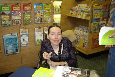 Harriet at book signing in Charlotte, NC. Sept. 2006