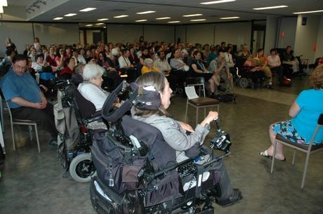 Appreciative audience at Ryerson, May 2007